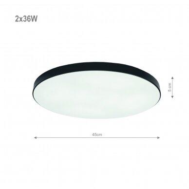 """Lubinis juodas LED šviestuvas """"BOSTON"""" 2x36W 2"""