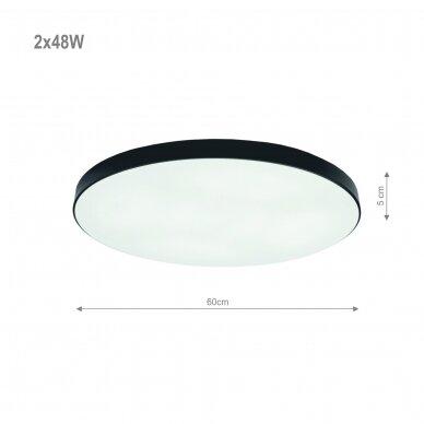 "Black LED ceiling light ""BOSTON"" 2x48W 2"
