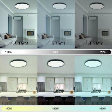 "Black LED ceiling light ""BOSTON"" 2x48W 4"