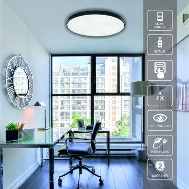 "Black LED ceiling light ""BOSTON"" 2x48W 3"
