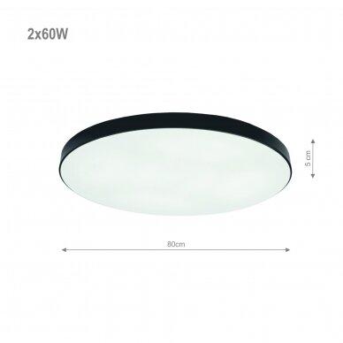 """Lubinis juodas LED šviestuvas """"BOSTON"""" 2x60W 2"""