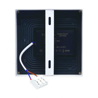 """Paviršinis kvadratinis LED šviestuvas """"MODENA"""" 16W 6"""