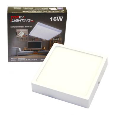 """Paviršinis kvadratinis LED šviestuvas """"MODENA"""" 16W 7"""