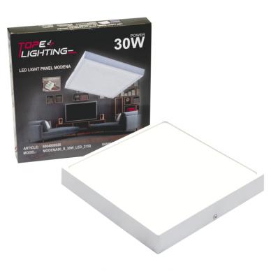 """Paviršinis kvadratinis LED šviestuvas """"MODENA"""" 30W 7"""