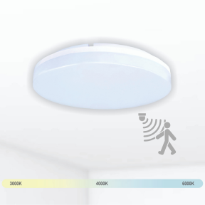 """Ceiling and wall mounted luminaire with microwave sensor """"RIOSENS"""" 15W"""