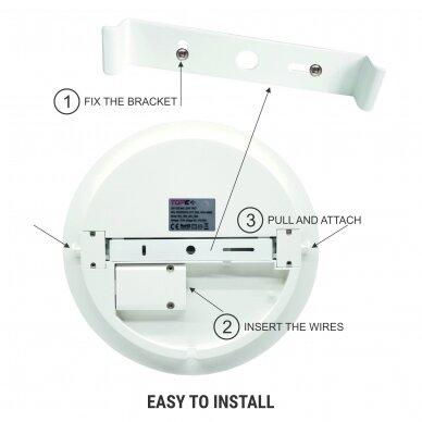 """Sieninis lubinis LED šviestuvas su mikrobangų davikliu """"RIOSENS"""" 18W 12"""