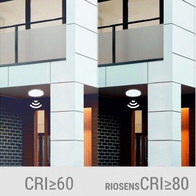 """Sieninis lubinis LED šviestuvas su mikrobangų davikliu """"RIOSENS"""" 18W 6"""